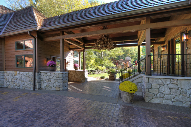 Rustic Garage Addition Amp Breezeway Rustic Exterior