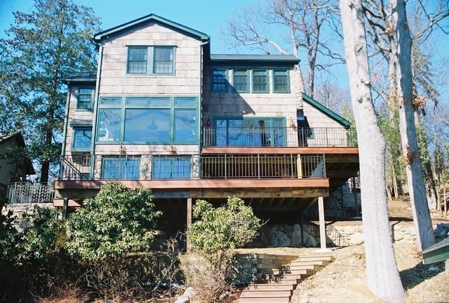 Rustic Lake House - Exterior Closeup rustic-exterior