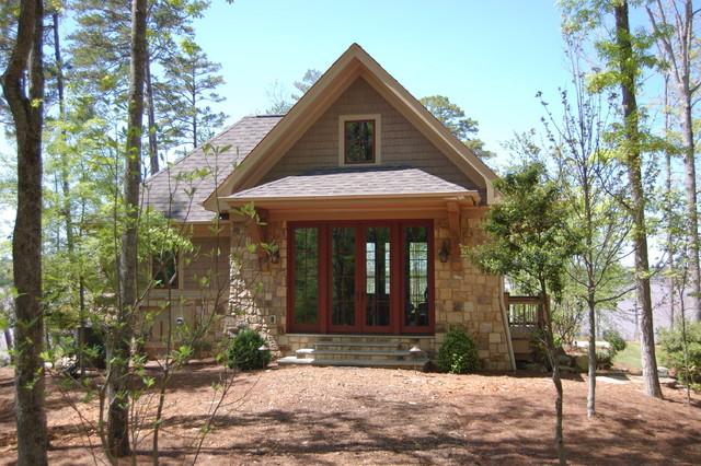 Rustic Lake House Retreat Rustic Exterior Atlanta
