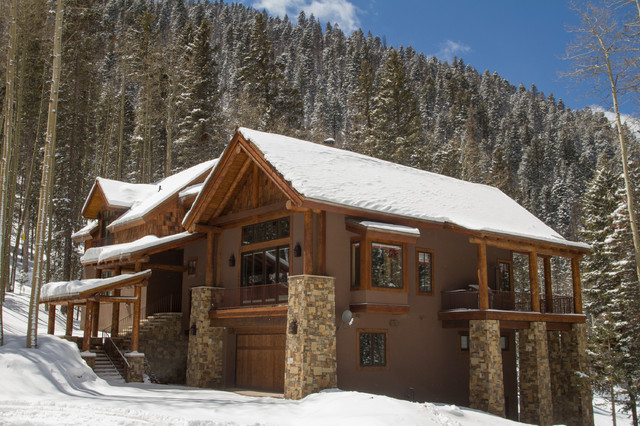 Rustic mountain home in taos ski valley for Rustic home albuquerque