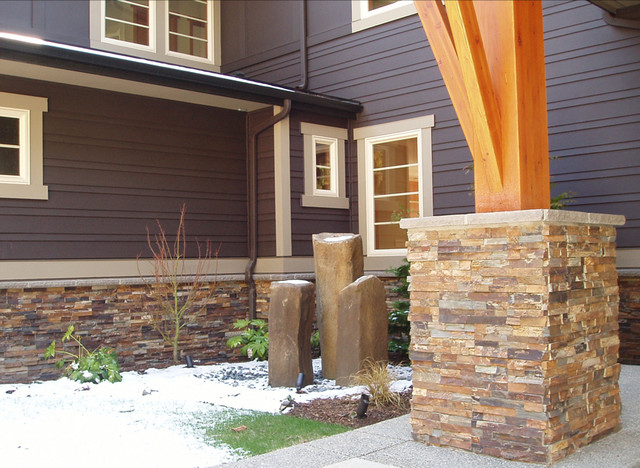 Rustic Natural Sustainable Home Contemporary Exterior Denver By Realstone Systems