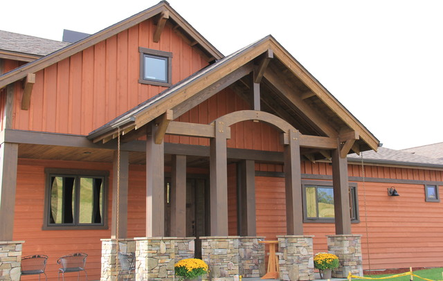 Rustic Parade Of Homes Rustic Exterior Other Metro