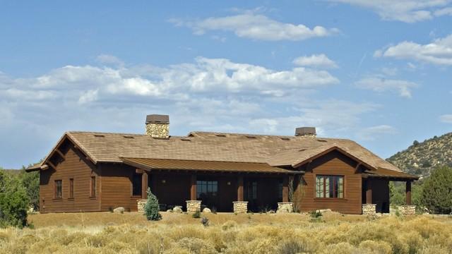 Rustic Ranch Homes Rear Rustic Exterior Phoenix By