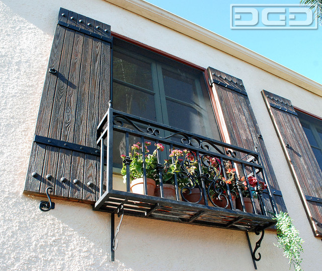 Rustic Spanish Shutters Designed and Crafted to Suite this Spanish ...