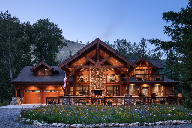 Rustic Timber Frame Home The Rock Creek Residence