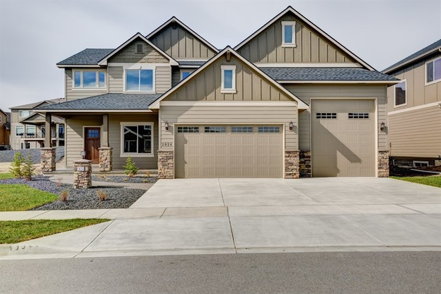 Rv garage arts crafts exterior seattle by for Arts and crafts garage plans
