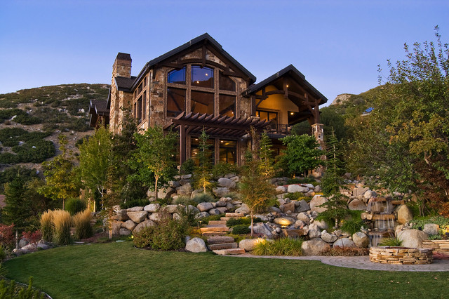 Salt Lake City, Utah Luxury Home by Markay Johnson Construction rustic-exterior