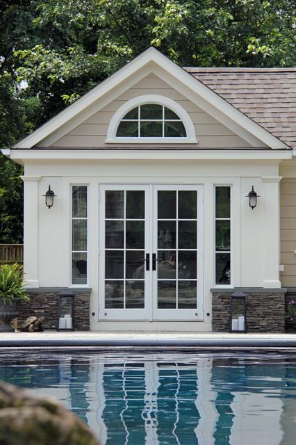 saltwater pool house - coastal - exterior - dc metro