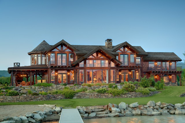 Sandpoint Idaho Timber Frame Home Traditional Exterior