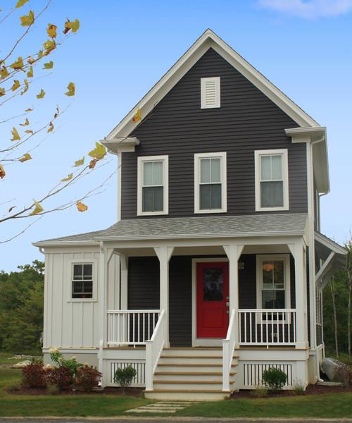 Houzz Home Design Exterior Entrance: Red Door Round Up