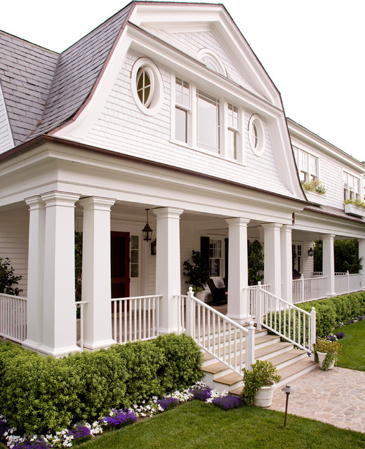 Colonial Home Exterior Trim Design Ideas: Santa Barbara Dutch Colonial