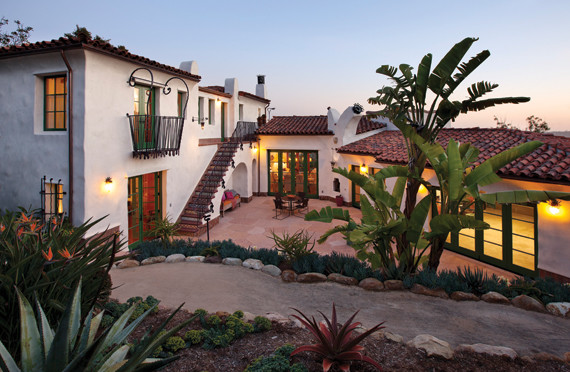 Santa Barbara Home Eclectic Exterior Los Angeles