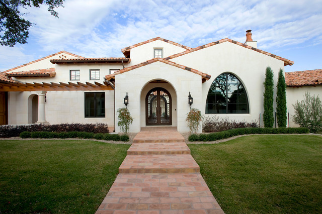 Santa Barbara In Texas Mediterranean Exterior Austin on Stucco Color For Mediterranean Style Homes