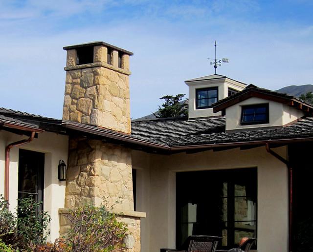 montecito stone farmhouse farmhouse exterior santa