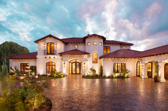 Santa barbara style remodel mediterranean exterior for Spanish style homes for sale near me