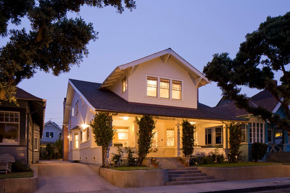 Coastal wood exterior home idea in Los Angeles
