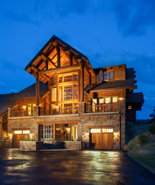 Rustic Home Exterior Pictures: Sapphire Mountain Retreat