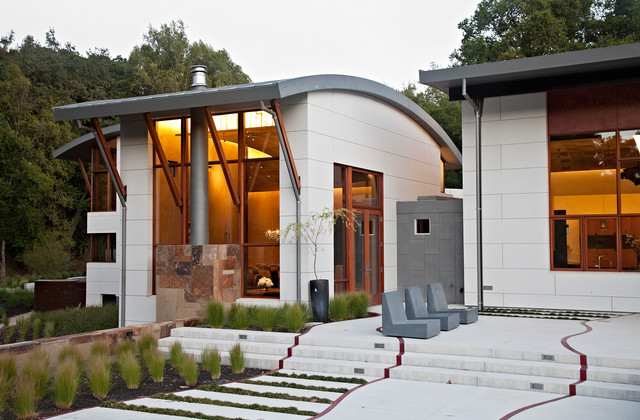 Saratoga Creek House contemporary-exterior