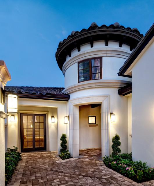 "Mediterranean Exterior Design House Characteristics: Sater Design Collection's 6799 ""Arabella"" Home Plan"