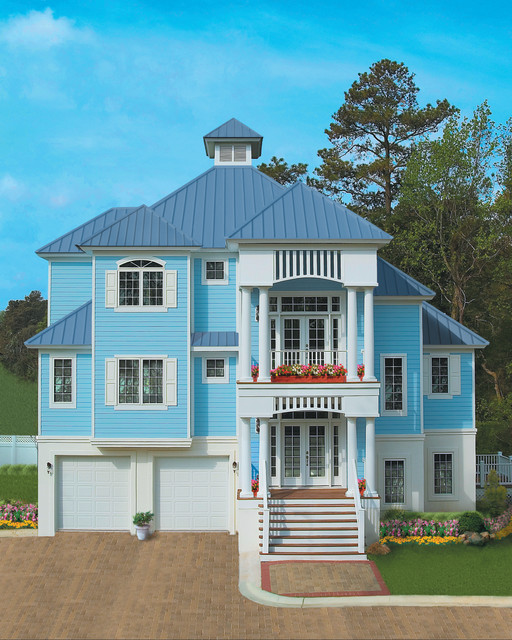 Sater design collection 39 s 6808 santa rosa home plan for Dan sater homes