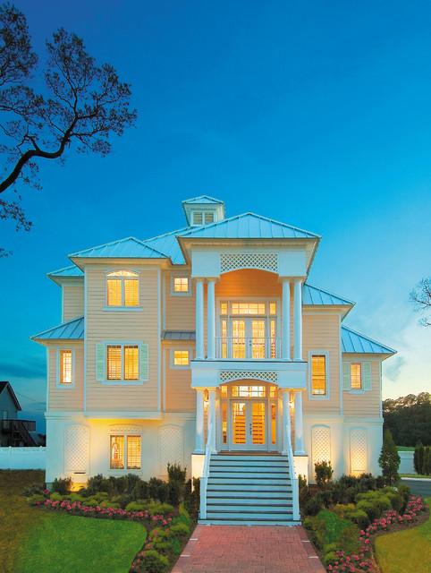 Sater design collection 39 s 6808 santa rosa home plan for House of blueprints santa rosa beach