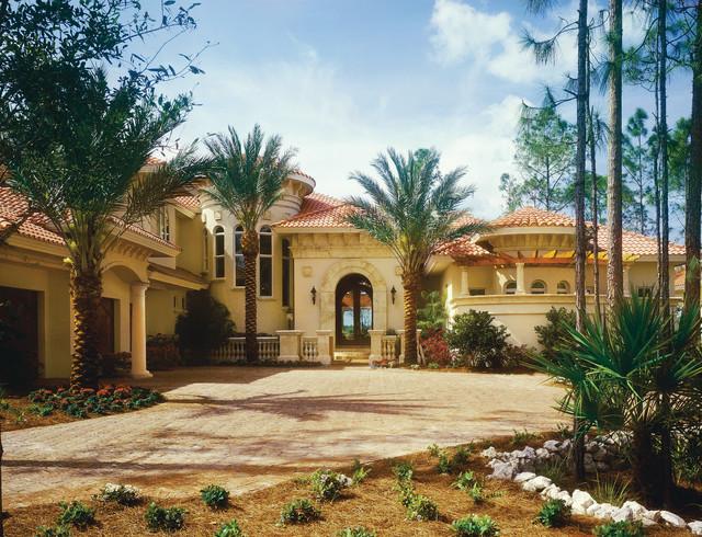 Sater Design Collection 39 S 6910 Fiorentino Home Plan Mediterranean Exterior Miami By