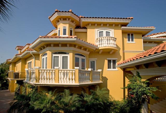 Sater Group's Villoresi Custom Home Design Mediterranean New Miami Home Design Exterior