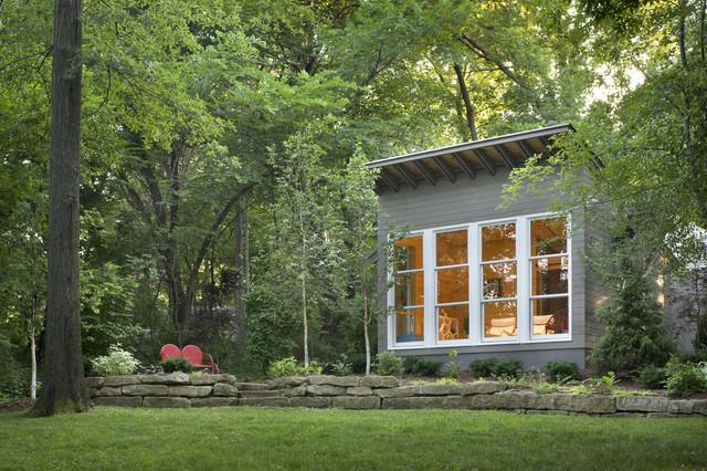 Sauna house contemporary exterior kansas city by for Modern home design kansas city