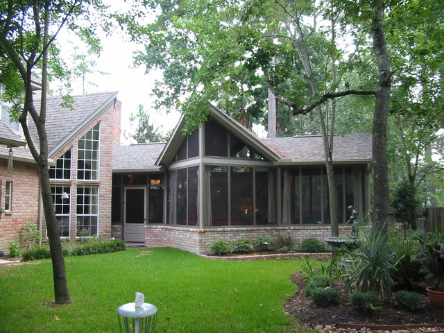 Backyard Room Additions : SCREENED OUTDOOR FAMILY ROOM ADDITION  Modern  Exterior  houston