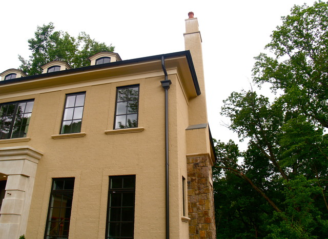 Seamless Gutters and Leaf Protection traditional-exterior