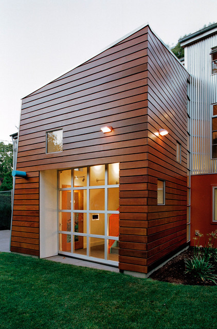 Seattle home exterior ipe siding modern exterior for Modern home exterior siding