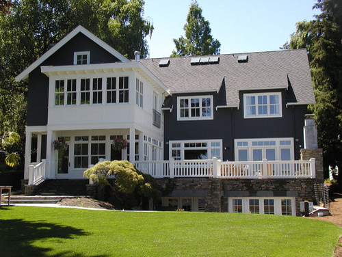 Seattle Waterfront Home traditional exterior