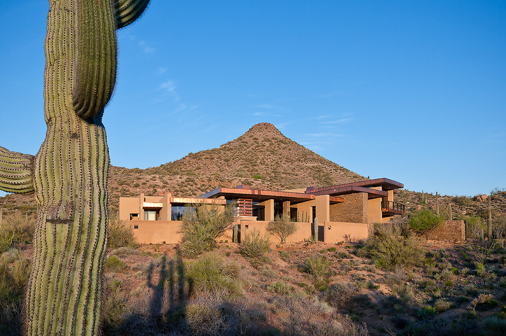 Inspiration for a contemporary exterior home remodel in Phoenix