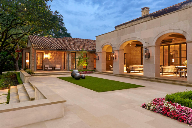 Seneca preston hollow mediterranean exterior for Seneca custom homes