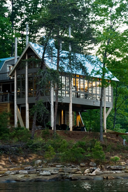 Seven Sticks Lakehouse Rustic Exterior Other By