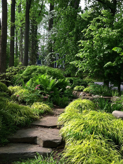 Landscaping Shady Hillside : Shaded hillside rustic exterior new york by susan