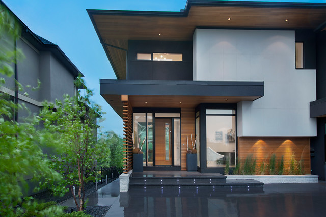 Shaw residence contemporary exterior calgary by for Modern office building exterior design