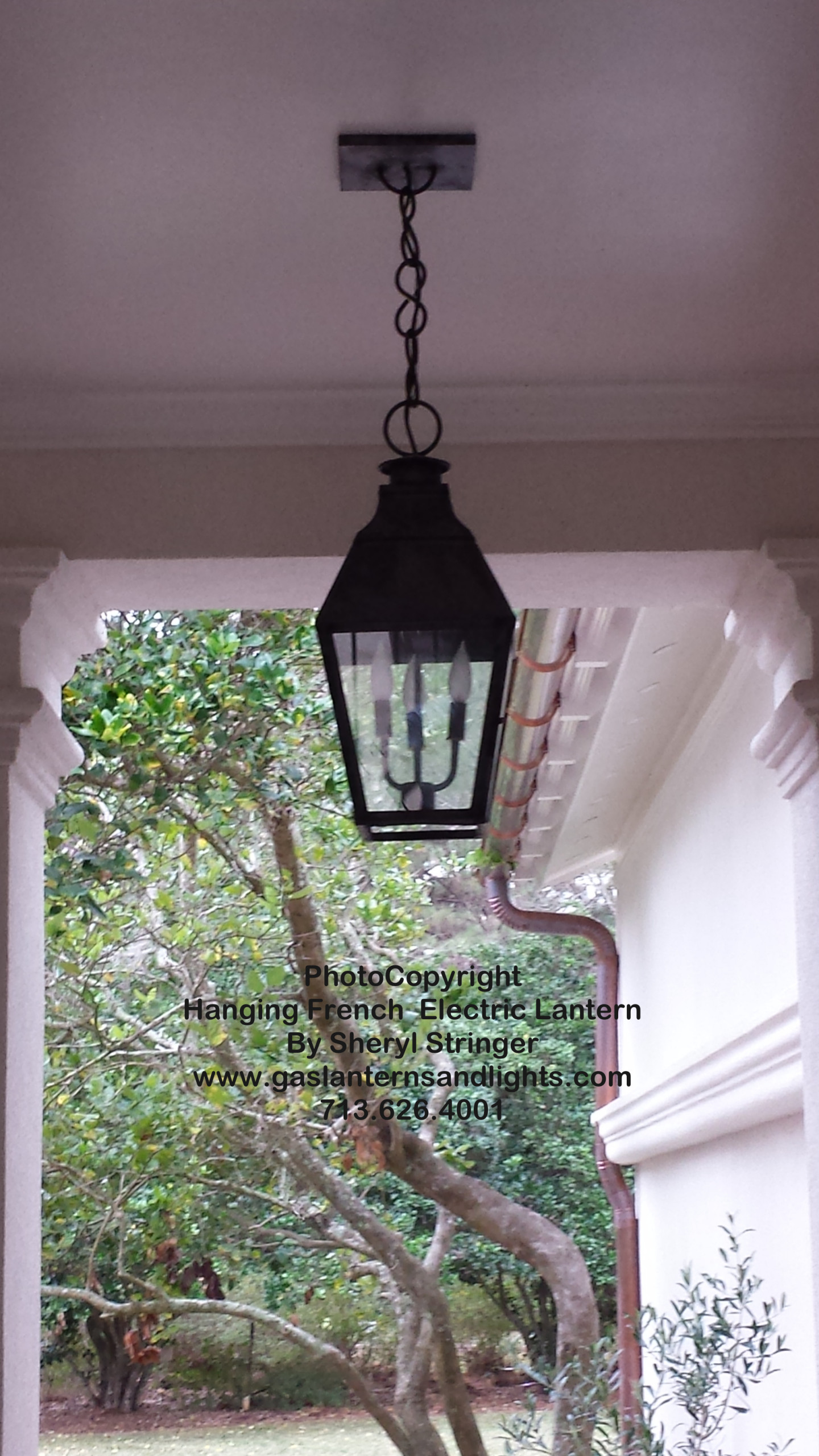 Sheryl's Electric French Style Lantern with Solid Top