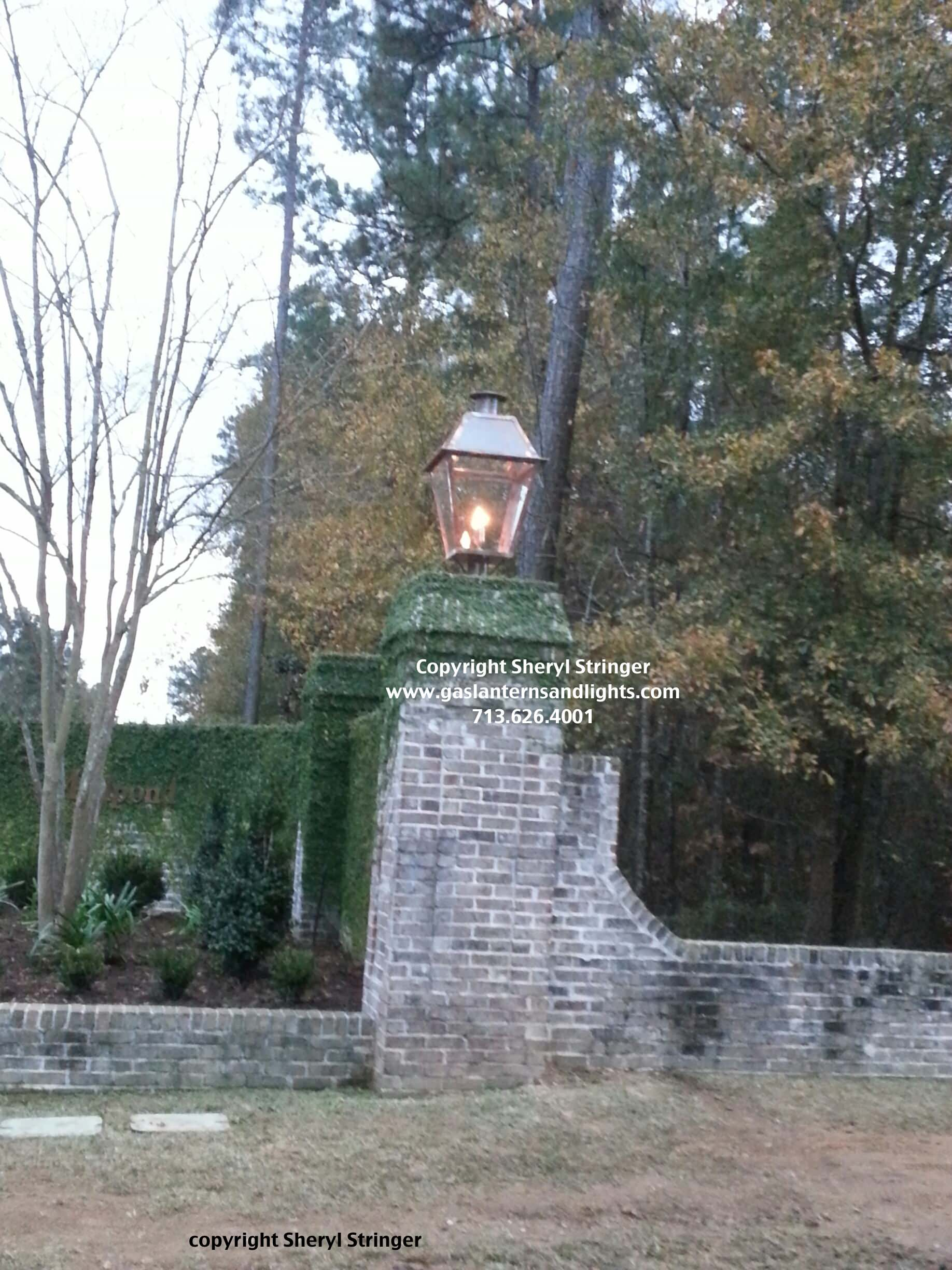 Sheryl's Extra Large New Orleans Style Gas Lanterns On Columns