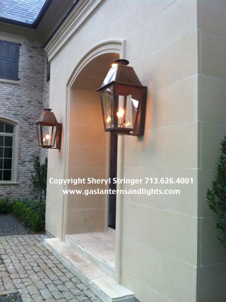 Sheryl's Extra Large Plantation Style Gas Lanterns - Traditional ...