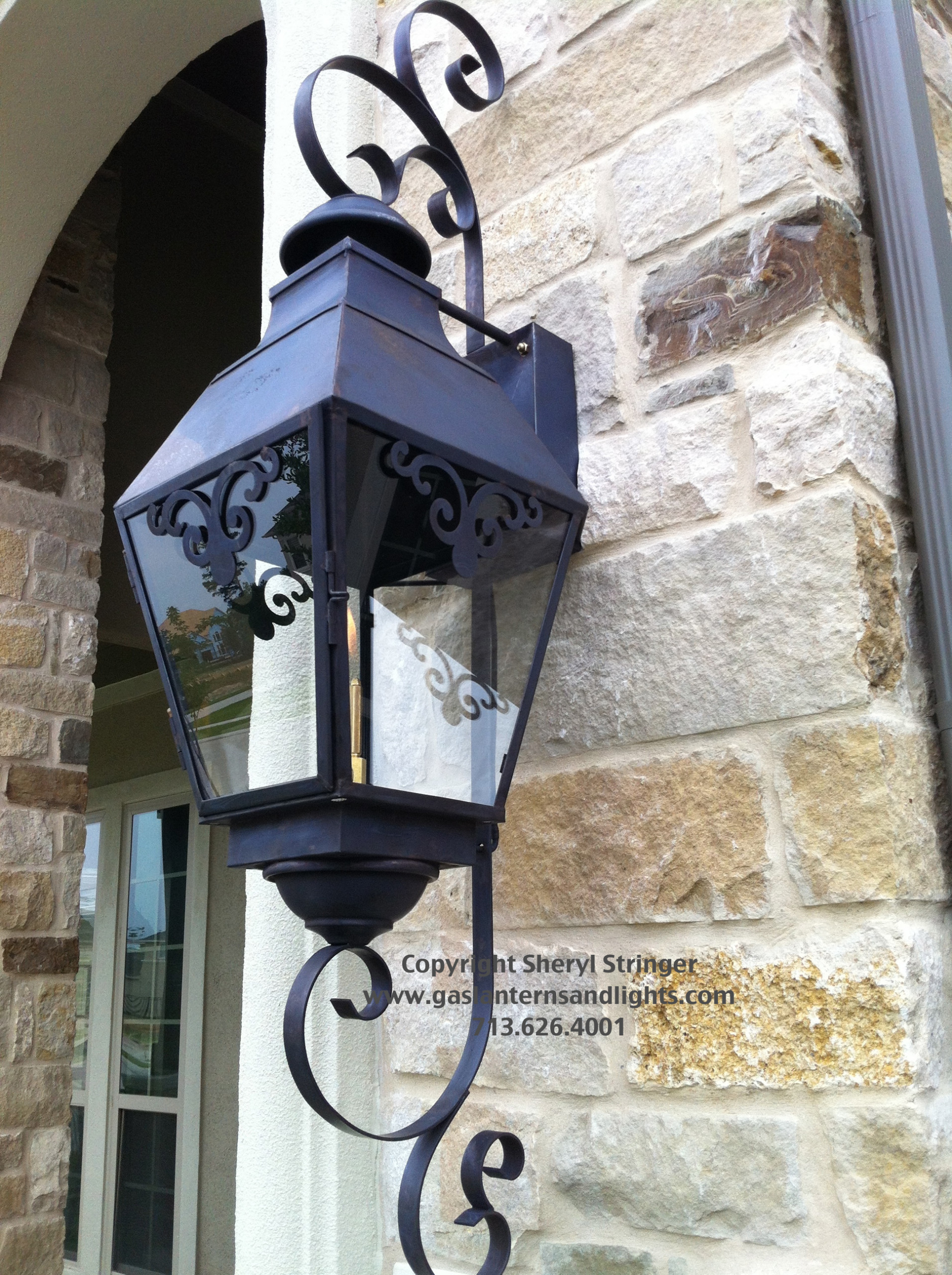 Sheryl's French Chateau Lantern with Dark Patina Finish