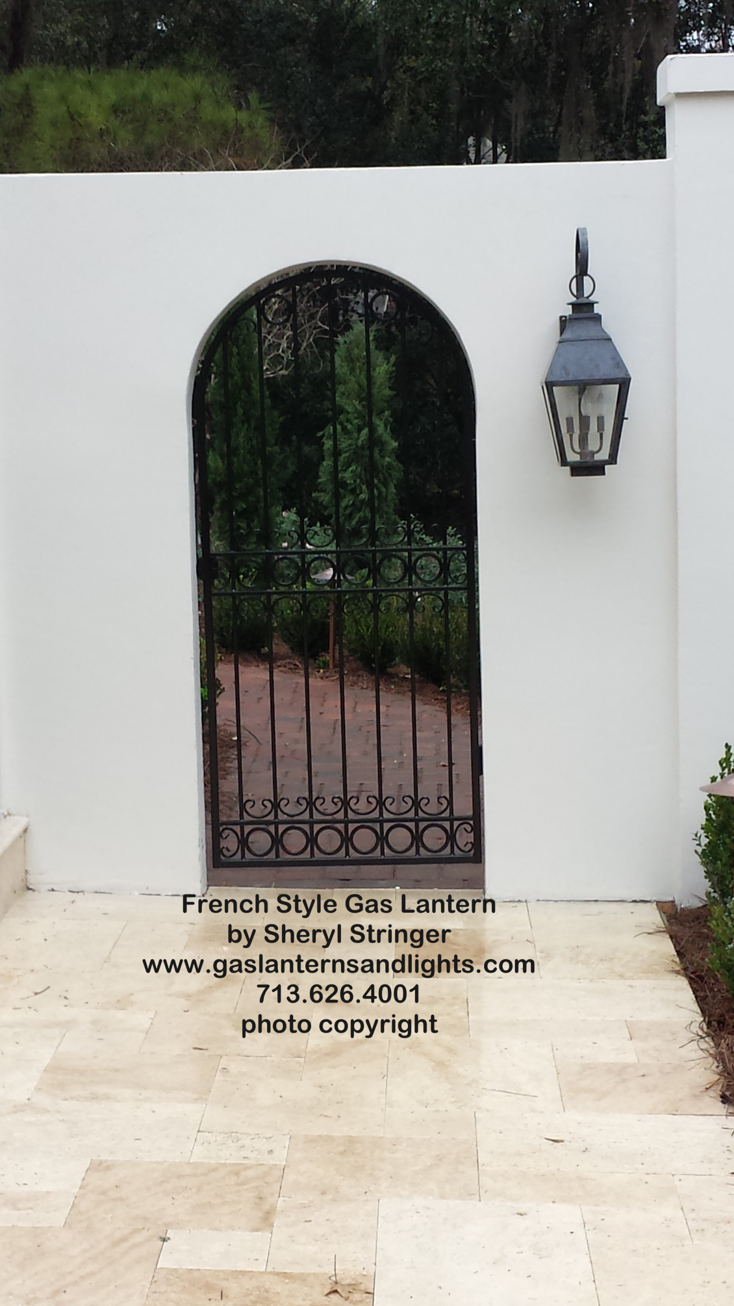 Sheryl's French Electric Lantern with Solid Top and Dark Patina