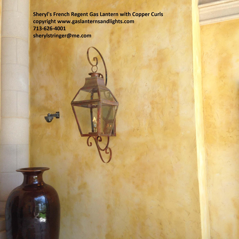 Sheryl's French Regent Gas Lanterns