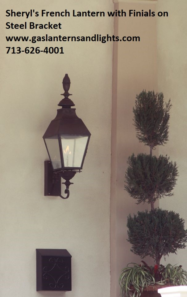 Sheryl's French Style Gas Lanterns with Finials