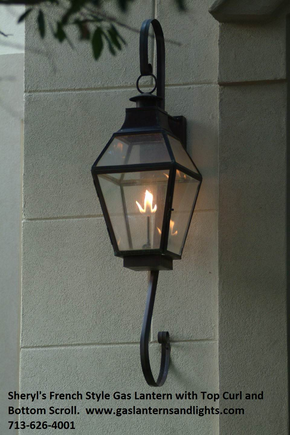 Sheryl's French Style Lanterns with Glass Tops