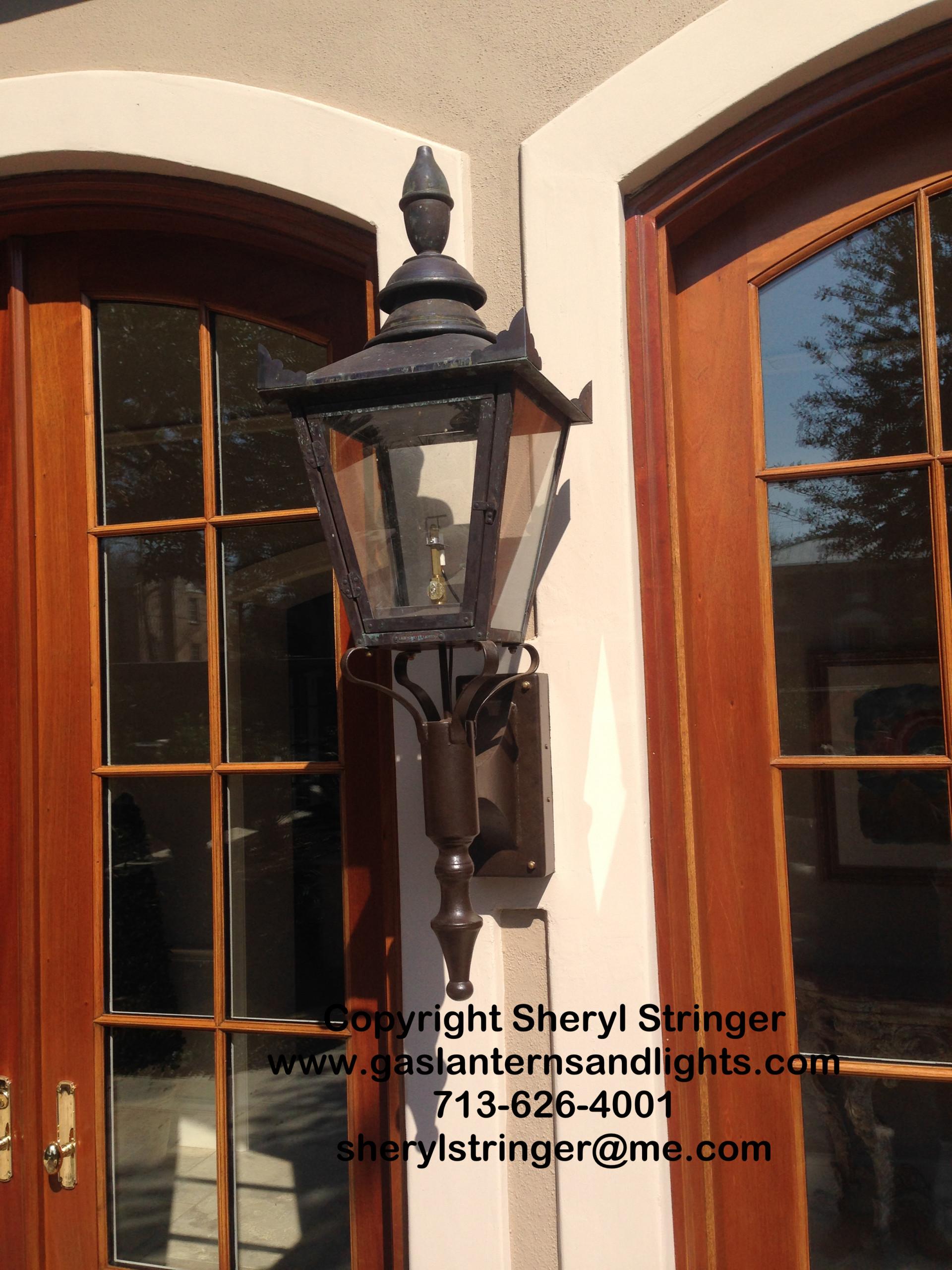 Sheryl's Lancaster Gas Lantern on Steel Bracket