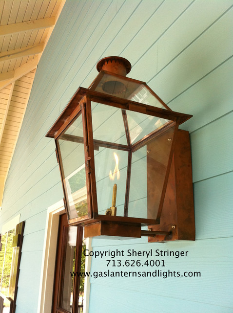 Sheryl's New Orleans Style Gas Lantern with Glass Top ...