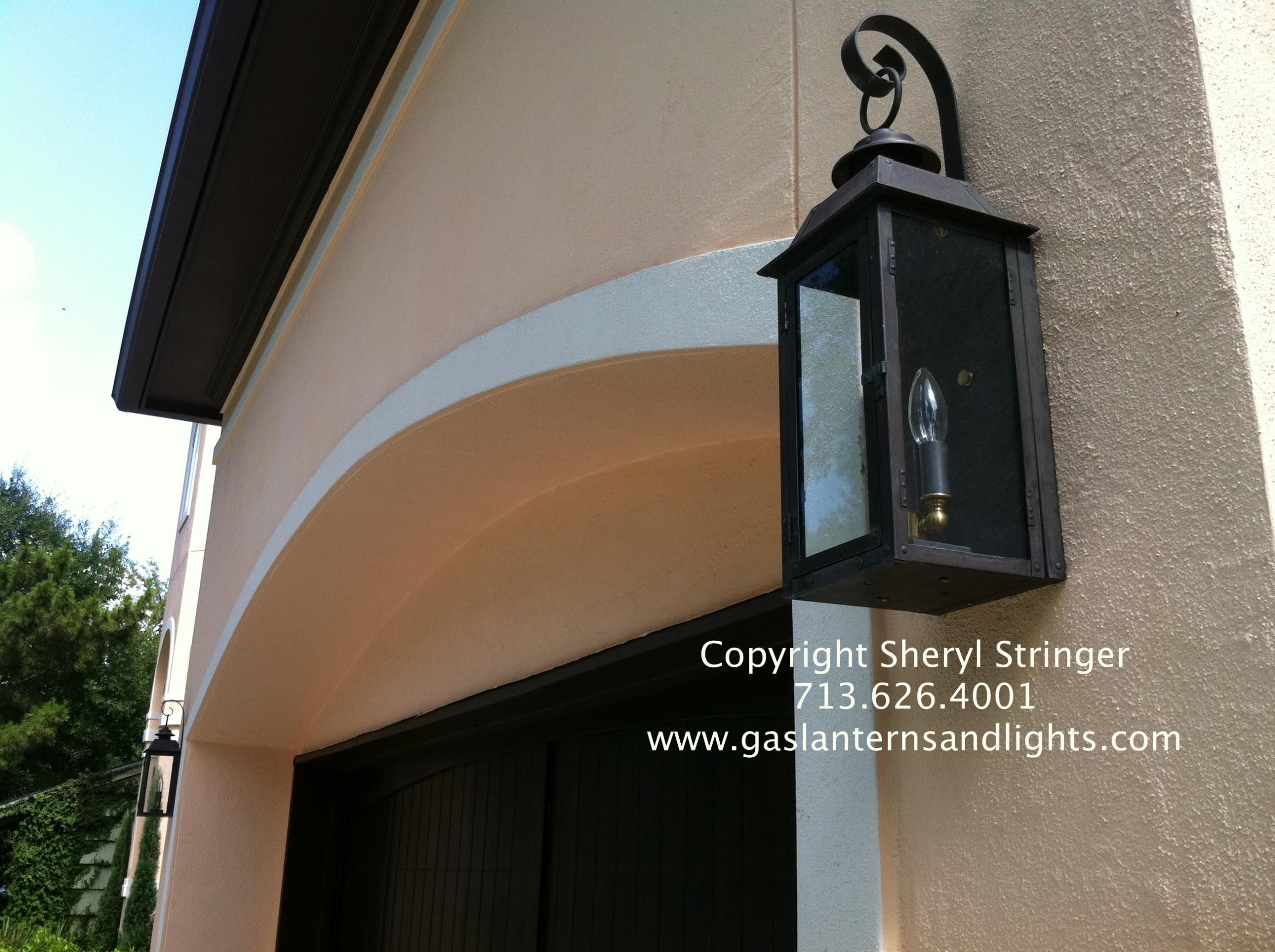 Sheryl's Style 3 Transitional Flush Mount Lanterns by Garage