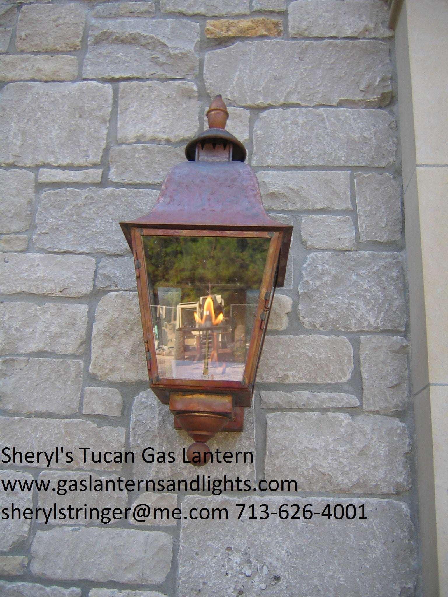 Sheryl's Tuscan Gas and Electric Lanterns