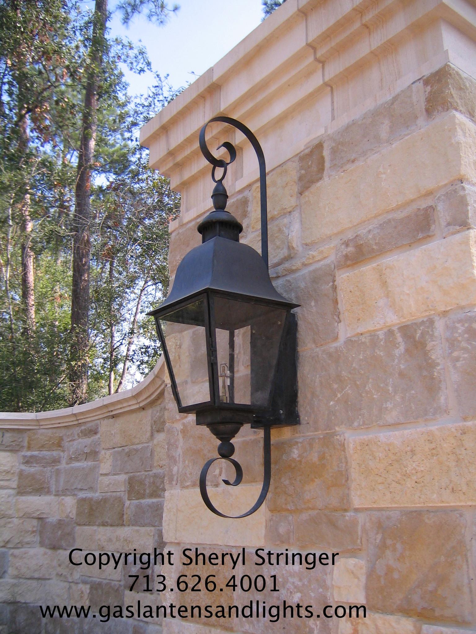 Sheryl's Tuscan Gas Lantern with Curls